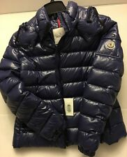 MONCLER Blue Ladies 4 L Bady Coat Jacket New NWT Authentic Down Feather Fill
