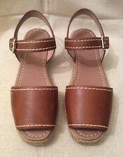 Seed Heritage Tan Leather Espadrille Sandals . Size 39