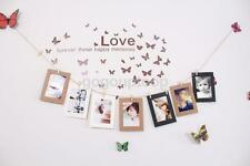 10 Paper Photo Frame DIY Wall Art Picture Hanging Album With Rope Line Clips
