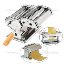 "Pasta Maker Roller Machine 6"" Dough Making Fresh Noodle Maker Stainless Steel"