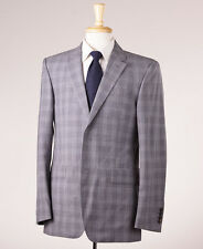 NWT $1495 BURBERRY LONDON Lighter Gray Check Modern-Fit Wool Suit 38 R Italy