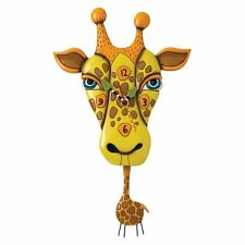 ALLEN DESIGNS Jaffy the Giraffe NEU/OVP Wanduhr m. Pendel Clock Design Uhr P1452