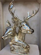 Grand Entwined Stag Deer Animal Ornaments Figures Large Deer Home Sculpture