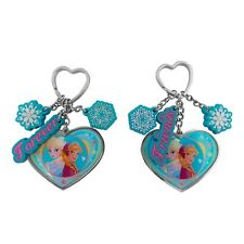 Pair of Genuine Disney Frozen 'Forever Friends' Elsa and Anna Hearts Keyring Set