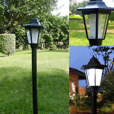 Solar Power LED Path Way Wall Landscape Mount Garden Fence Lamp Light Outdoor