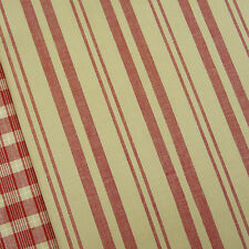 Petite Wovens ~ Faded Red Nice Stripe Fabric / quilting cream French General