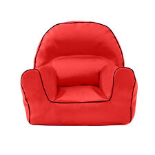 Red Faux Leather Children's Bean Bag Arm Chair Seat Beanbag Playroom Nursery