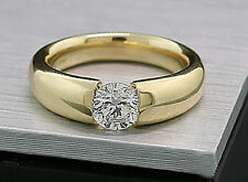 Brillant Ring 1,00 Carat Top Brillanz 585 Gelbgold Wert 13750 Euro Neu