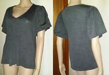 COUNTRY ROAD Size S Grey Short Sleeve 50% Wool Jumper