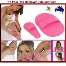 Hair Removal Set Smooth Legs Skin Face Upper Lip Arm Exfoliator Pads Remover  AU