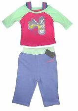 Converse Baby Girls Outfit T Shirt Top Bottoms Pink Purple 6-9 Months