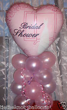 BRIDAL SHOWER HEN NIGHT PARTY FOIL BALLOON TABLE DISPLAY DECORATION AIRFILL pink