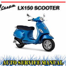 VESPA LX150 SCOOTER FACTORY WORKSHOP SERVICE REPAIR MANUAL + PARTS MANUAL ~ DVD