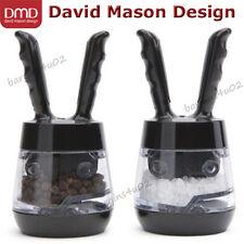 Mini Pod Salt & Pepper Grinder Mill Set, DMD David Mason Design Black New