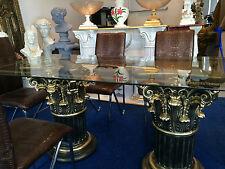 Glastisch Esstisch medusa mäander Barock Säulen Wohntisch  6036 K110+50