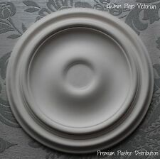 "Small Plaster Ceiling Rose PlainTraditional Victorian Design 260mm/10"" Hand Made"