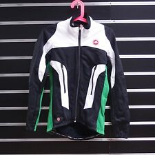 Castelli Mortirolo Due men Winter Cycling Jacket Black White Green Small S