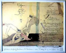 HORST JANSSEN erot. Multiple HAND-SIGNIERT, 40x50, 1977, mit Rahmen, orig.signed