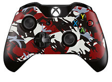 Xbox One Controller/Gamepad Skin / Cover / Wrap - Red & Black Camouflage Design