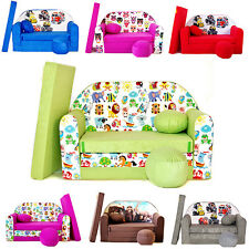 Minicouch Kindersofa 3in1 Baby Set + Kindersessel Kissen Matratze Bettfunktion