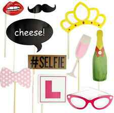 10x HEN PARTY SELFIE PHOTO PROPS BOOTH KIT HEN NIGHT GAMES ACCESSORIES & FAVOURS