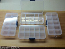 10 COMPARTMENT TACKLE BOX FOR SEA COARSE GAME FLY FISHING HOOKS SWIVELS