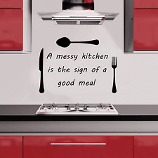 Messy Kitchen Sticker Wall Quote Vinyl Art Decal Chef Dinning Cafe Home SQE28