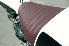 GENUINE Triumph Bonneville / Thruxton / Scrambler Oxblood Brown Seat NEW