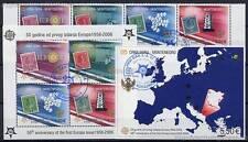 50 JAHRE EUROPAMARKEN - 2006 MONTENEGRO SATZ 108-11 + BLOCKS 2-3 A gestempelt
