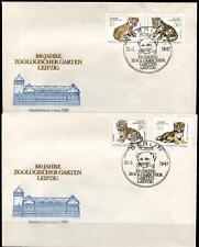 Junge Raubkatzen. 100J. Leipziger Zoo. 2 FDC. DDR 1978