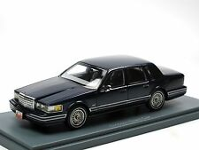 Neo Scale Models 45505 1990 Lincoln Town Car dark blue 1/43 OVP