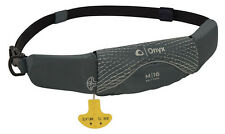 Onyx M-16 Manual Inflatable Belt Pack Life Jacket M16 Grey PFD NEW