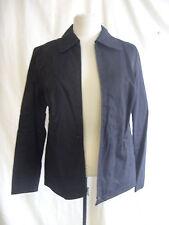 Ladies coat/jacket - GAP, size M, black, lightweight, cotton, zip, smart - 7362