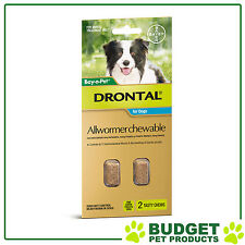 Drontal For Medium Dogs 3-10kg 2 chews