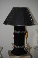 Tischlampe Lampe Schwarz Silber Tischleuchte Licht Medusa Lamp59 -
