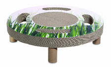 Catit Design Cat - Elevated bed + Sisal Spinning Toy -Home 3in1 Catnip Scratcher
