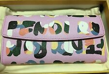 Brand New Authentic Fendi Roma Simply Wallet Leather in Pink