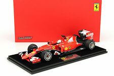 S. Vettel Ferrari SF15-T #5 Winner Malaysia GP F1 2015 with Display cabinet 1:18
