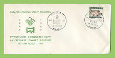 Belgium 1967 21st Scout Agoonoree Camp, La Fresnaye cancel cover