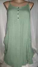 Crossroads Sage green Crinkle Beach holiday swimsuit cover up DRESS 18 NEW