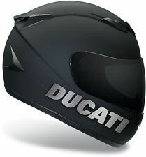 SILVER BRUSHED DUCATI STICKERS FOR HELMET DECALS