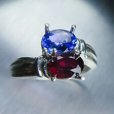 Natural Ruby pigeon blood red ring Sterling 925 Silver 7, N1/2, resize