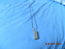 Solid Sterling Silver Ingot Pendant 21.80 grams
