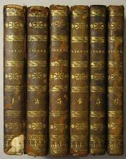 """LAURENCE STERNE: """"OEUVRES COMPLÈTES"""" 1818 / Franz. Gesamtausgabe, Halbleder"""
