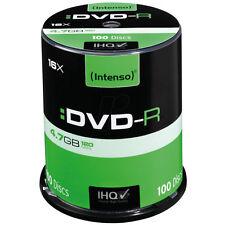 Intenso DVD-R 4,7GB 16x Geschwindigkeit 100er Spindel DVD-Rohlinge 4101156 NEU