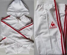 LE COQ SPORTIF UK 10 WOMENS RETRO TRACKSUIT TROUSERS & CROP JACKET F9/1711