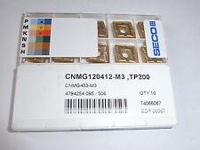 NEU 10 SECO CNMG120412-M3 TP200 mit Rechnung Wendeplatten