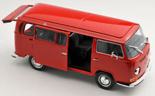BLITZ VERSAND VW Volkswagen Bus T2 1972 rot / red 1:24 Welly Modell Auto NEU OVP