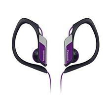 Panasonic RPHS3 Water and Sweat Resistant Headphones Jogging Outdoor Use Violet