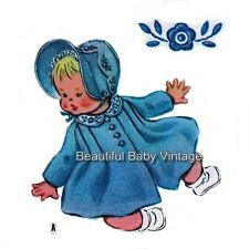 McCall's SEWING PATTERN Baby Toddler Coat Dress Bonnet Child Sz 1-2 Reproduction